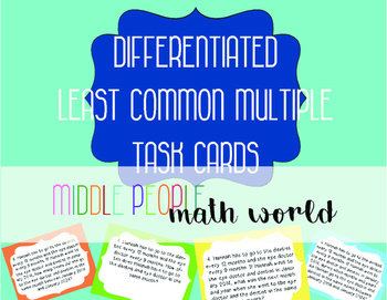 Differentiated Least Common Multiple Task Cards