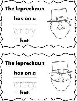 Differentiated Leprechaun Emergent Readers