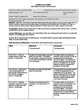 Differentiated Lesson Plan for 1st Grade Guided Reading