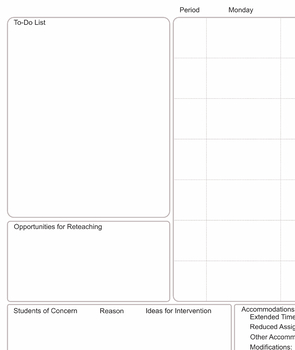 Differentiated Lesson Planner