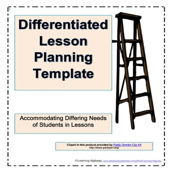 Differentiated Lesson Planning Template By Learning Highway Tpt