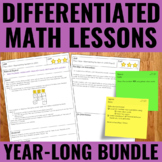 Guided Math Lesson Plans - Differentiated - Year-Long BUNDLE
