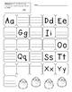 Differentiated Letter Assessment, Uppercase, Lowercase, Letter Order
