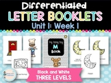 Differentiated Letter Booklets and Running Records (Unit 1, Week 1) Letter M