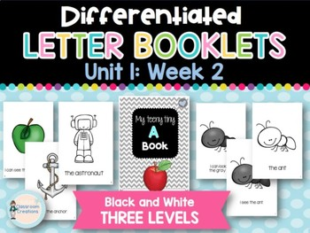Differentiated Letter Booklets and Running Records (Unit 1, Week 2) Letter A