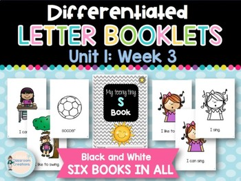 Differentiated Letter Booklets and Running Records (Unit 1, Week 3) Letter S