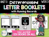 Differentiated Letter Booklets and Running Records (Unit 3, Week 3) Letter C