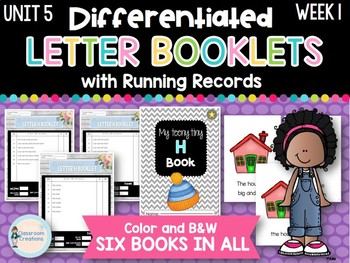 Differentiated Letter Booklets and Running Records (Unit 5, Week 1) Letter H