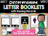 Differentiated Letter Booklets and Running Records (Unit 7, Week 2) Letter G
