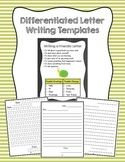 Differentiated Letter Writing Templates