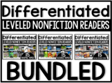 Differentiated Leveled Nonfiction Readers A-D Bundle | Homeschool Compatible |