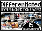 Differentiated Leveled Nonfiction Readers (Levels A-D) Set 3 Social Studies