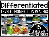 Differentiated Leveled Nonfiction Readers (Levels E-H) Set