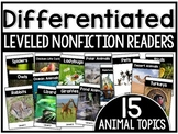 Differentiated Leveled Nonfiction Readers Set 1 Animal Topics