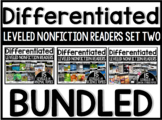 Differentiated Leveled Nonfiction Readers (Set 2 Levels E-