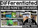 Differentiated Leveled Nonfiction Readers (Set 2 Levels E-H) Set 1 Animal Topics