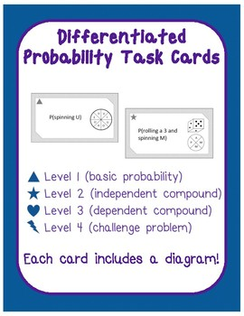 Differentiated Leveled Probability Task Cards