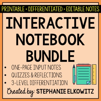 Earth, Life, Physical & Nature of Science Interactive Notebook Bundle