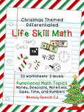 Christmas Differentiated Life Skill Math Pack (special education)