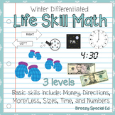 Differentiated Life Skill Math Pack: Winter (special education)