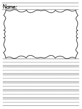 Differentiated Lined Handwriting Paper for Writing and Illustrating