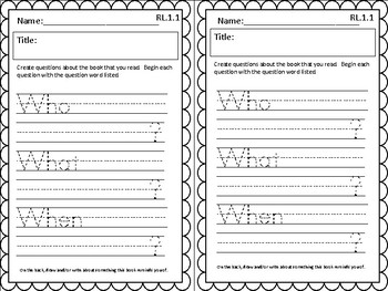 Differentiated Listening Center Response Sheet