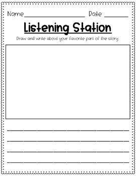 Differentiated Listening Station Response Sheets
