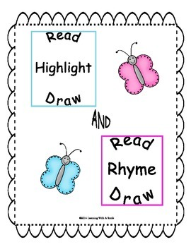 #presidentsdaydeals  Read-Highlight-Draw & Read-Rhyme-Draw
