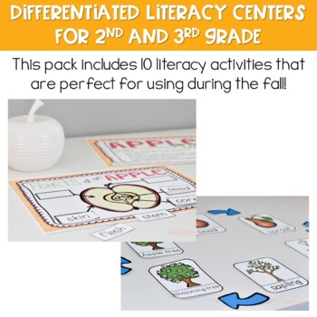 Fall Centers: Differentiated Literacy Centers for 2nd and 3rd Grade