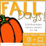 Fall Reading Centers for 2nd 3rd Grade