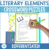 Differentiated Literary Elements Crossword Puzzles: 4th &