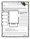 Differentiated Literature Circle Role Sheets- Character Captain, CCSS alligned