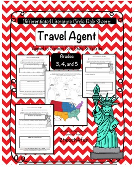 Differentiated Literature Circle Role Sheets: Travel Agent CCSS Aligned
