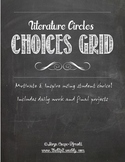 Differentiated Literature Circles Choices Grid