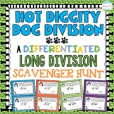 Differentiated Long Division Scavenger Hunt *Hot Diggity Dog Division*