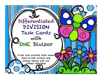 Differentiated Long Division Task Cards With ONE Divisor