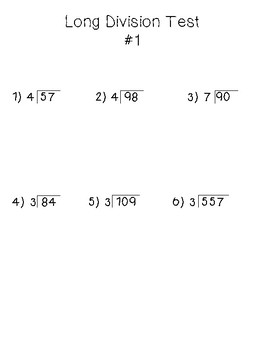 Differentiated Long Division Tests