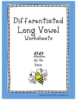 Differentiated Long Vowel Worksheets: ee