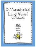 Differentiated Long Vowel Worksheets: ee