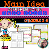 Main Idea and Supporting Details Passages Task Cards Main Idea Grades 4/5