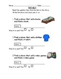 Differentiated Mall Community Based Instruction (CBI) Worksheet 4