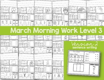 Intermediate Special Education Morning Work: March Edition {3 Levels!}