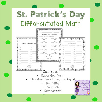 Differentiated March No Prep Math Printables