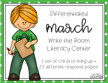 Differentiated March Write the Room Center
