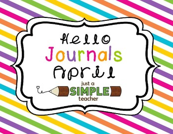 Differentiated April Writing Journals for K and First Grade
