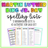 Differentiated Martin Luther King Jr. Day Spelling Lists &