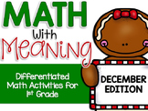Differentiated Math Center Activities for December (Gingerbread and Christmas)