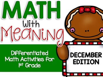 Differentiated Math Center Activities for December (Ginger