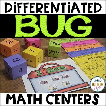 Differentiated Math Center - Bug Theme
