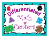 Differentiated Math Center Charts